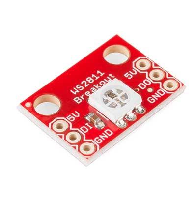 Модуль RL025. Светодиодный RGB модуль с контроллером WS2811. Тип 1