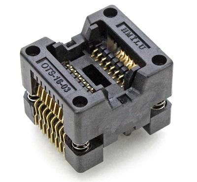 ZIF панель для SOIC16