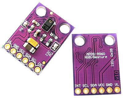 Модуль RA086. APDS-9960. Датчик жестов, освещённости, цвета и приближения
