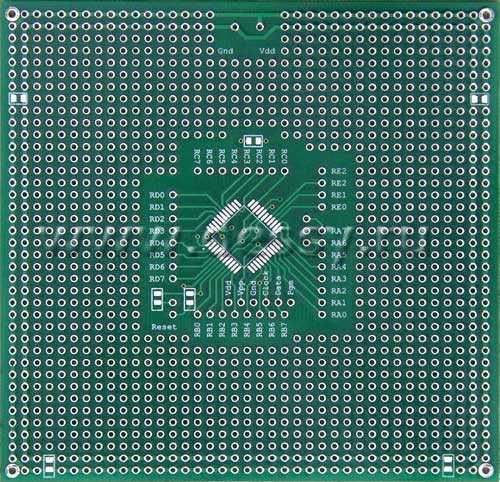 Плата печатная макетная двусторонняя TQFP44 под процессор