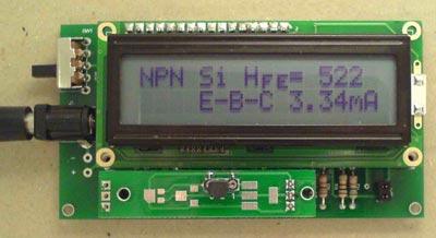 Набор элементов для изготовления прибора SC Analyzer 2005, измеряющего параметры транзисторов