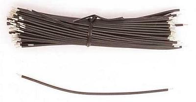 Перемычки из многожильного провода НВ-4-0,2/3/25-Ч. Чёрные, 100 штук
