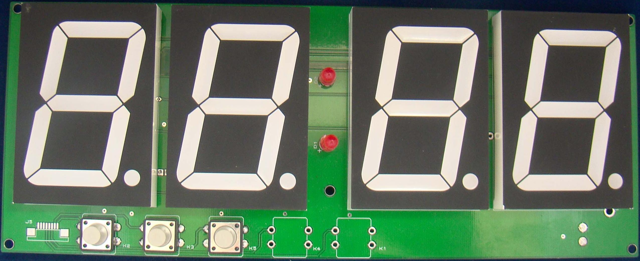 Внешний вид электронных часов ADV2348