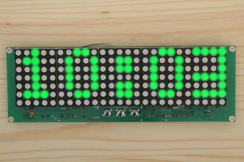 Часы матричные DIP DMC628-4 Зелёные