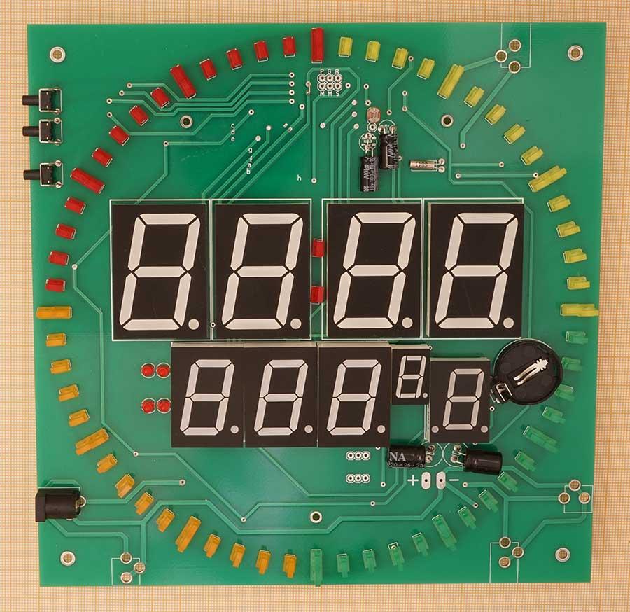 Часы-термометр на микроконтроллере ATmega8A с LED секундной стрелкой