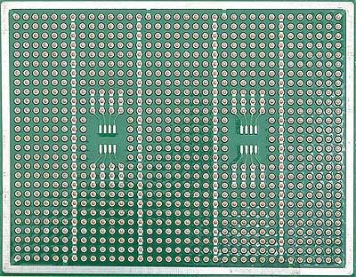 Плата печатная макетная M04 для двух корпусов SOIC8.