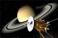 Зонд Cassini пролетел между Сатурном и его кольцами